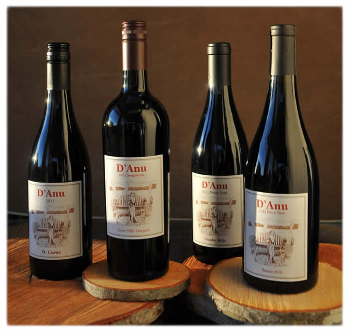 Four bottles of D'Anu Wines