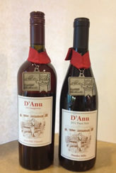 D'anu wines with gold medals
